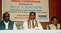 The Minister of State (Independent Charge) for Micro, Small & Medium Enterprises, Shri K.H. Muniyappa addressing a press conference, in Mumbai. The Chairman, Khadi & Village Industries Commission (KVIC).jpg