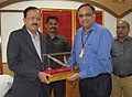 The Minister of State for Defence, Dr. Subhash Ramrao Bhamre being presented a memento at the Ordnance Factory Ambajhari, in Nagpur on February 24, 2018.jpg