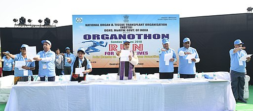 "The Minister of State for Health & Family Welfare, Shri Ashwini Kumar Choubey at the ""Orgonothon"", being organised by the National Organ & Tissue Transplant Organisation (NOTTO), in New Delhi"