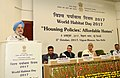 """The Minister of State for Housing and Urban Affairs (IC), Shri Hardeep Singh Puri addressing at the World Habitat Day 2017 function, on the theme """"Housing Policies Affordable Homes"""", in New Delhi.jpg"""