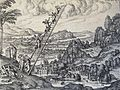 The Phillip Medhurst Picture Torah 148. Jacob's Dream. Genesis cap 28 v 11. Borcht.jpg