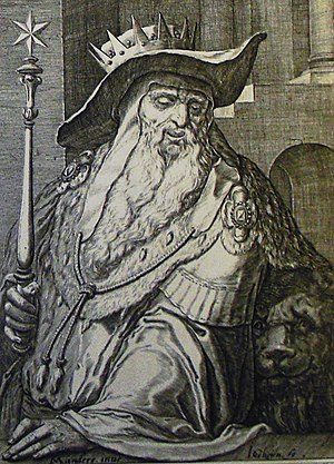 Judah (son of Jacob) - An image of Judah from the Phillip Medhurst Collection of Bible Illustration.