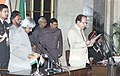 The President Dr.A.P.J.Abdul Kalam administering the Oath (Cabinet Minister) to Shri Saif-ud-Din Soz, in New Delhi on January 29,2006.jpg