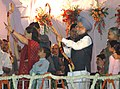 The Prime Minister, Dr. Manmohan Singh participating in the Dussehra celebrations at Ramleela Maidan on the auspicious occasion of Vijay Dashmi, in New Delhi on October 21, 2007 (1).jpg