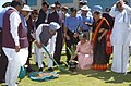 The Prime Minister, Dr. Manmohan Singh planting a sapling at Infosys Campus. Suttur in Mysore District, Karnataka on February 12, 2005.jpg