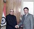 The Prime Minister Shri Atal Bihari Vajpayee meets the President of Pakistan Mr. Pervez Musharraf on the sidline of 12th SAARC Summit in Islmabad on January 5, 2003.jpg