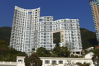 "Repulse Bay - The ""building with a hole"" - The Repulse Bay, site of the former Repulse Bay Hotel"