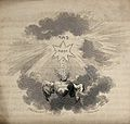 The Sacred Heart rises towards the name of God. Etching by J Wellcome V0035666.jpg