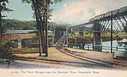 The Three Bridges over the Deerfield River, Greenfield, Mass. - G 21317 -
