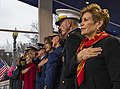 The U.S. Joint Chiefs of Staff pay respect to the flag at the White House, Jan. 20, 2017.jpg