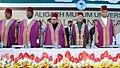 The Vice President, Shri Mohd. Hamid Ansari at the 61st Convocation of Aligarh Muslim University, in Aligarh, Uttar Pradesh on March 29, 2014. The Governor of Uttar Pradesh, Shri B.L. Joshi is also seen.jpg