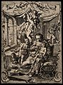 The Virgin Mary feeding Christ as a baby, angels and putti f Wellcome V0015050.jpg