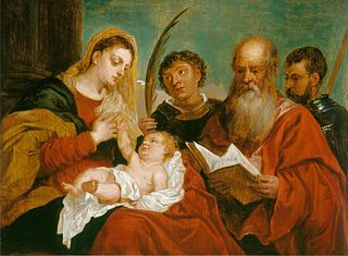 The Virgin and Child with Saints Stephen, Jerome and Maurice