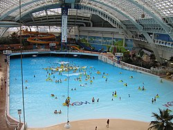 World waterpark wikipedia for Swimming pools with slides north west
