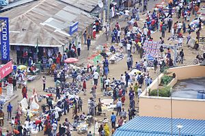 Kariakoo - The bird's view of the Kariakoo market in Dar es Salaam.