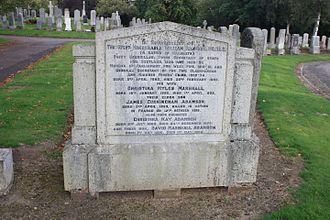 William Adamson - The grave of William Adamson MP, Dunfermline Cemetery