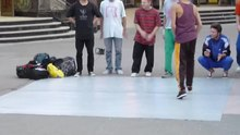 File:The guys break dancing in the street near the mall.webm