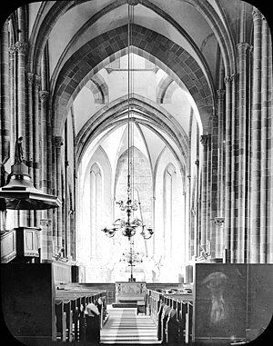 St Thomas' Church, Strasbourg -  Interior, 1903