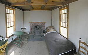 Henry David Thoreau - Reconstruction of the interior of Thoreau's cabin