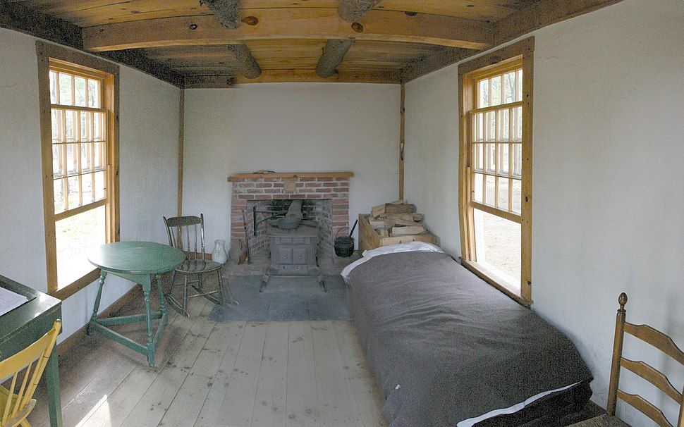 Thoreau's cabin inside