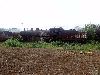 China Railways JF6 - A JF6 Steam Locomotives in Heshan, Laibin, China, 2014