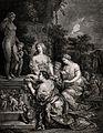 Three women praying to Venus (Aphrodite). Engraving by J.D. Wellcome V0036058.jpg