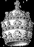 Ejemplo de representación heráldica de tiara.