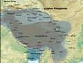 Tibetan empire greatest extent 780s-790s CE, Tibetan Version.jpg