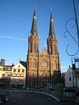 The 'Kerk op de heuvel' a central spot in Tilburg
