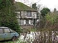 Timber framed house under repair, Marshborough - geograph.org.uk - 1659662.jpg