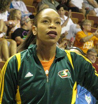Tina Thompson - Thompson at the 2013 WNBA All-Star game