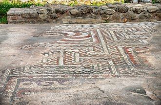 Tirana - Ancient mosaics from the 3rd century.
