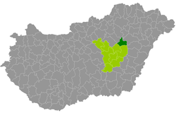 tiszafüred térkép Tiszafüred District   Wikipedia tiszafüred térkép