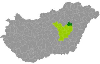 Tiszafüred District Districts of Hungary in Jász-Nagykun-Szolnok