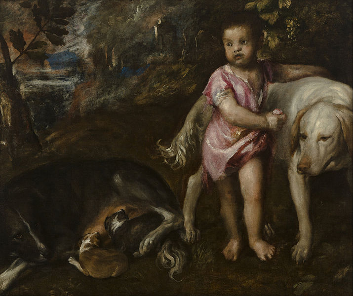 File:Titiaan - Boy with Dogs in a Landscape - Google Art Project.jpg