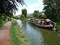 Tiverton , Grand Western Canal and Tivertonian Barge - geograph.org.uk - 1397487.jpg