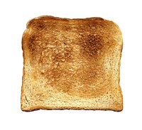 The same slice of bread, now toasted