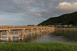Togetsu-kyō bridge at golden hour, Kyoto, Japan.jpg