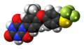 Toltrazuril molecule spacefill.png
