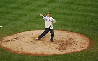 Tom Seaver - Seaver throws the ceremonial first pitch before the final game at Shea Stadium – September 28, 2008