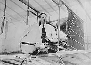 Howard Wright 1910 Biplane - Thomas Sopwith at the controls of his Howard Wright biplane