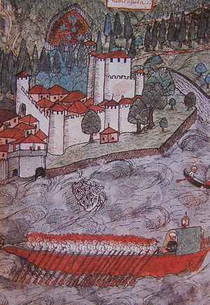Siege of Trebizond (1461) - An Ottoman galley, circa 17th century
