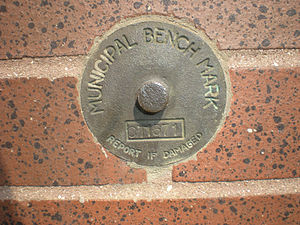 Benchmark (surveying) - Image: Torontobenchmark