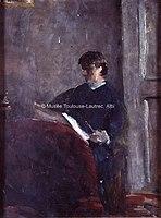 Toulouse-Lautrec - LA COMTESSE ADELE DE TOULOUSE-LAUTREC, LISANT UN JOURNAL, 1881, MTL.19.jpg