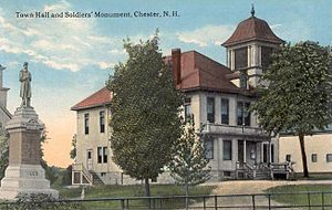 Town Hall & Soldiers' Monument, Chester, NH.jpg