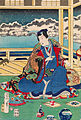 Toyohara Kunichika - Genji Viewing Snow From a Balcony - Google Art Project.jpg
