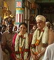 Traditional honour with Mysore peta and Mysore mallige garland for the donor who has committed for restoration of temple at t.narsipu.jpg
