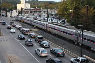 Manayunk/Norristown Line - A Manayunk/Norristown train at Main Street station