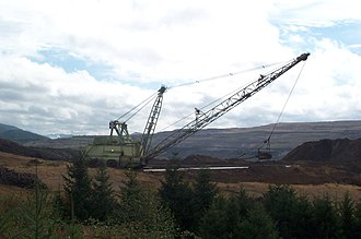 Centralia Coal Mine - Dragline at the Centralia coal mine