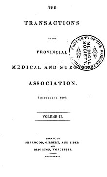 Transactions of the Provincial Medical and Surgical Association, volume 2.djvu